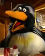 Penguin Mr. Flapper from Sandy and Mr. Flapper Kids TV Series for Milkshake. Puppeteered by Marcus Clarke